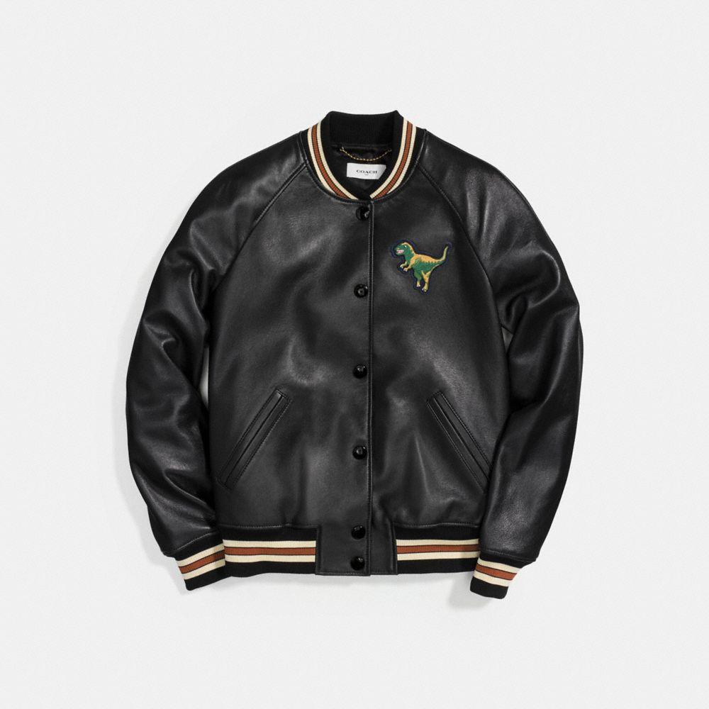 Coach Leather Varsity Jacket