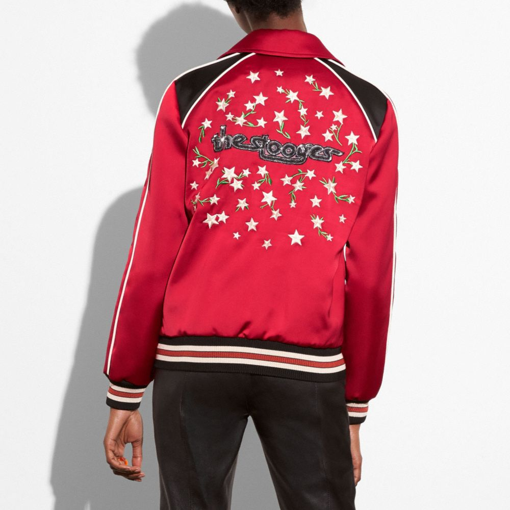 Coach Embroidered Varsity Souvenir Jacket Alternate View 2