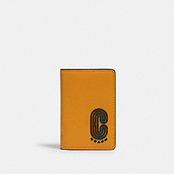 CARD WALLET IN COLORBLOCK WITH COACH PATCH - QB/TUMERIC DARK CLOVER - COACH 2025