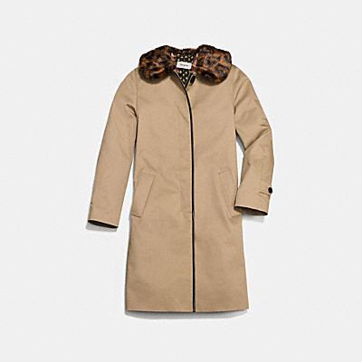 皮革鑲邊外套