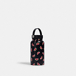 WATER BOTTLE WITH WATERMELON PRINT - NAVY/RED - COACH 2041