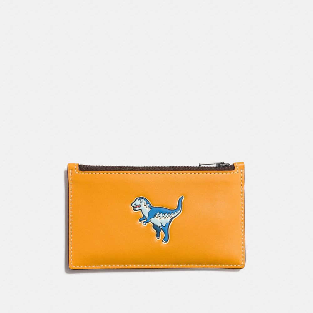 Coach Zip Card Case With Rexy