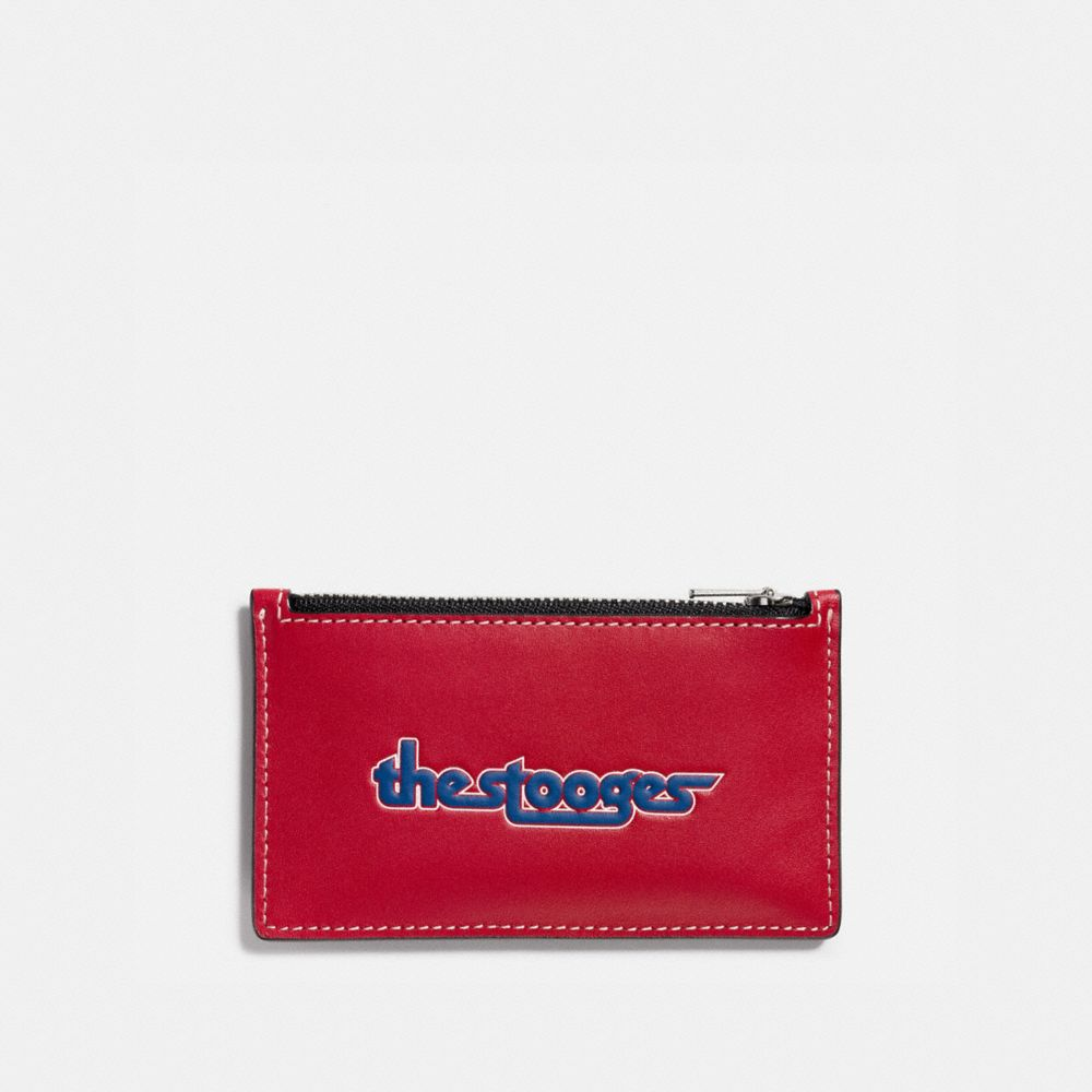 ZIP CARD CASE IN GLOVETANNED LEATHER WITH THE STOOGES - Alternate View