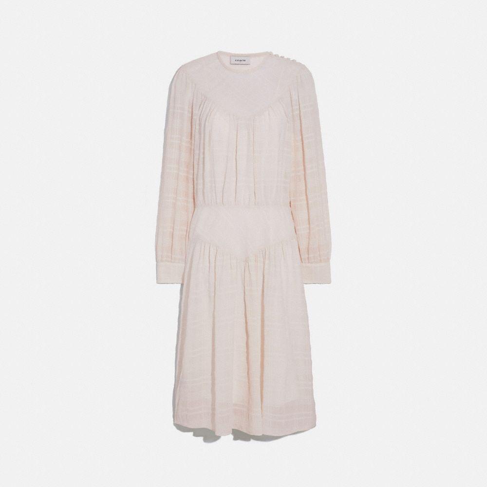플래드 요크 드레스