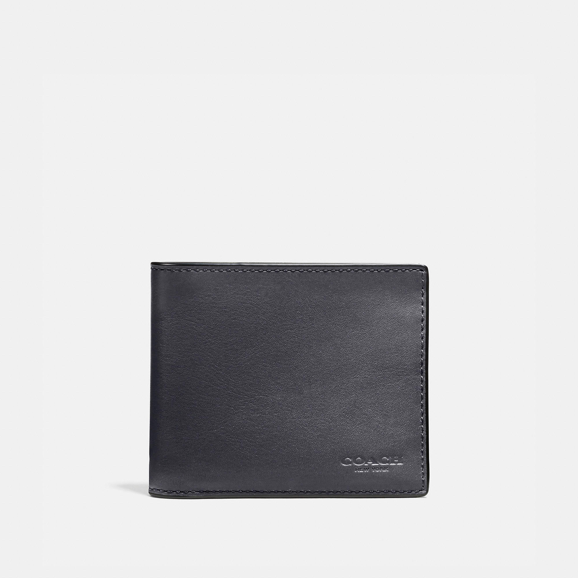 Coach 3-in-1 Wallet In Burnished Sport Calf Leather