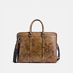 METROPOLITAN SLIM BRIEF WITH WILD BEAST PRINT - JI/SURPLUS - COACH 21076