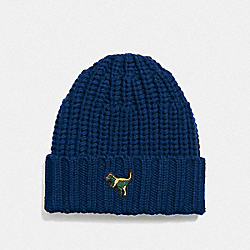 REXY KNIT BEANIE - MIDNIGHT NAVY - COACH 21104