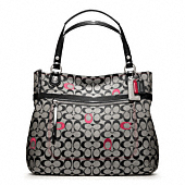 POPPY EMBROIDERED SIGNATURE C GLAM TOTE
