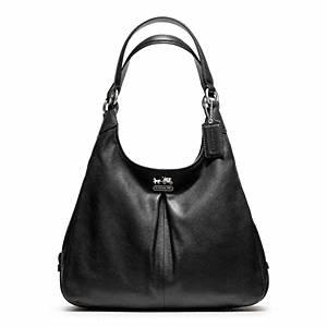 Coach Madison Leather Shoulder Bag Black 32