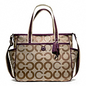 Baby Bag Op Art Metallic Outline Tote