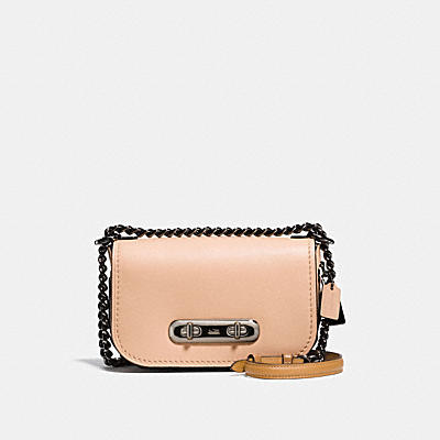 COACH SWAGGER 20 COACH LINK SHOULDER BAG