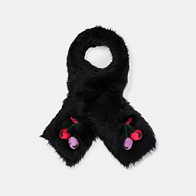 チェリー エンブロイダード シアリング スカーフ