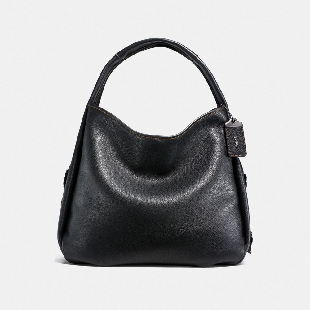 Coach Bandit Hobo 39 With Tooled Tea Rose