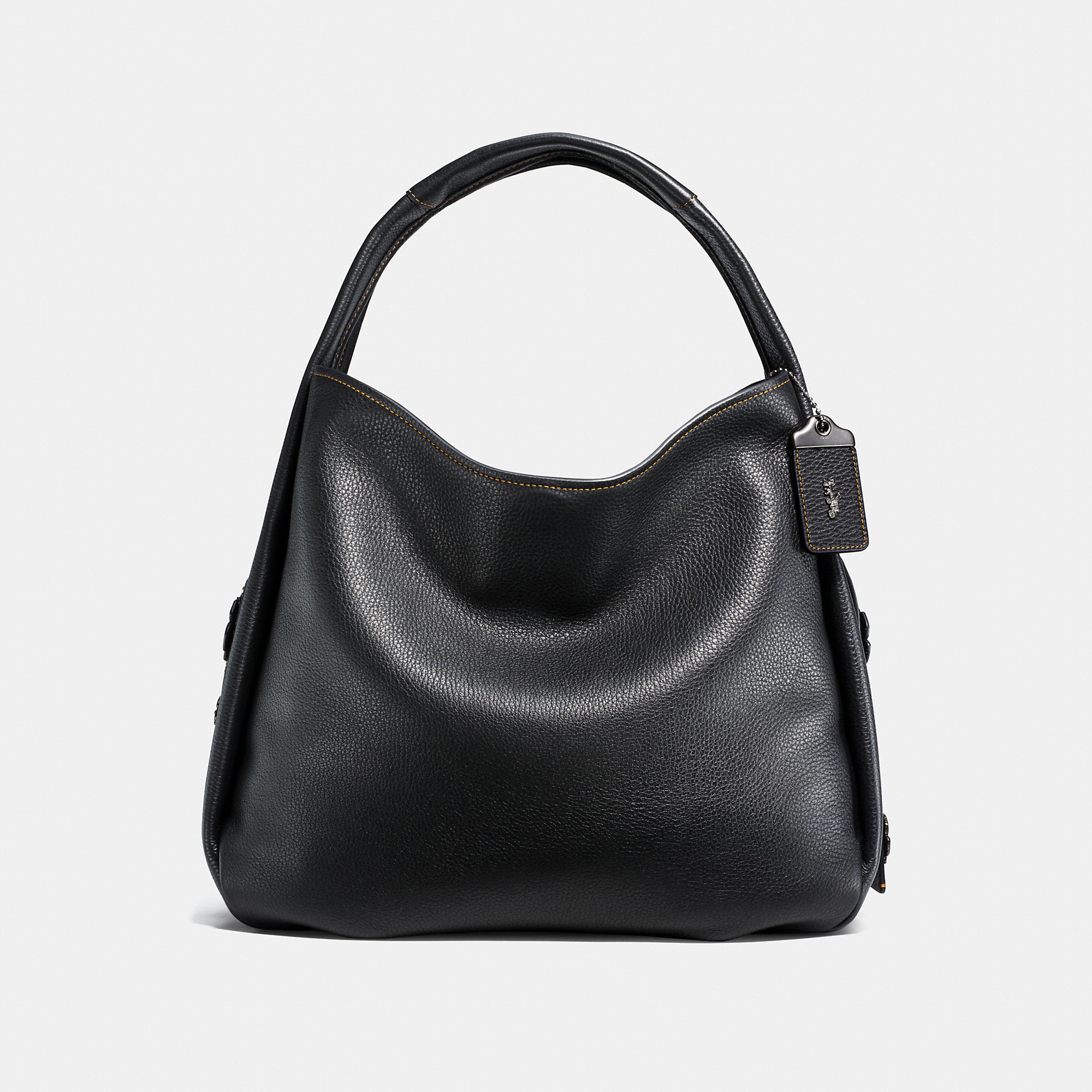 Coach Bandit Hobo 39 In Natural Pebble Leather With Tooled Tea Rose