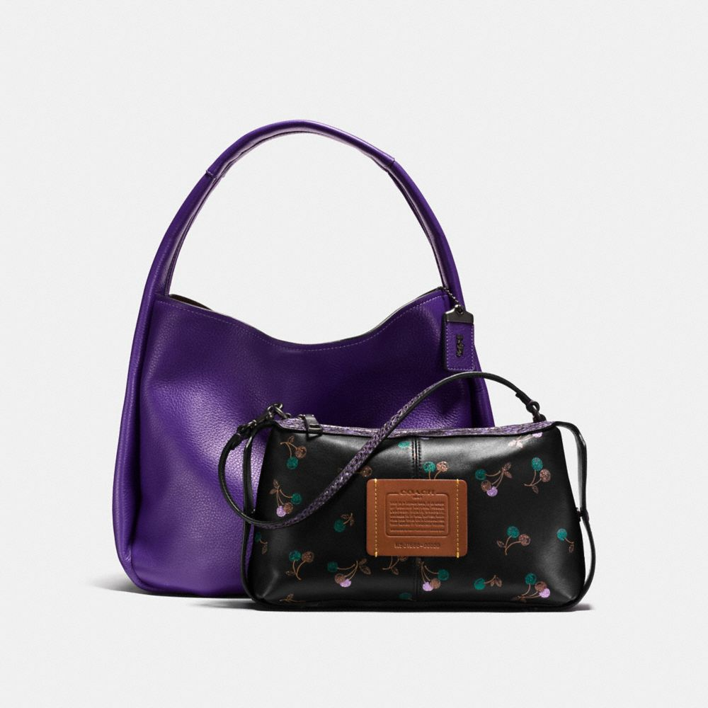 Coach Bandit Hobo With Colorblock Snakeskin Detail Alternate View 1