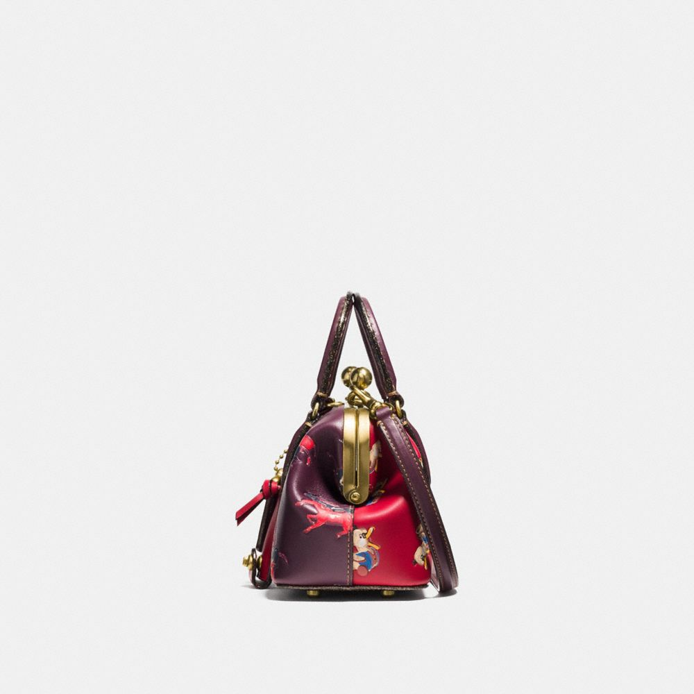 Coach Kisslock Satchel With Colorblock Horse and Duck Print Alternate View 1