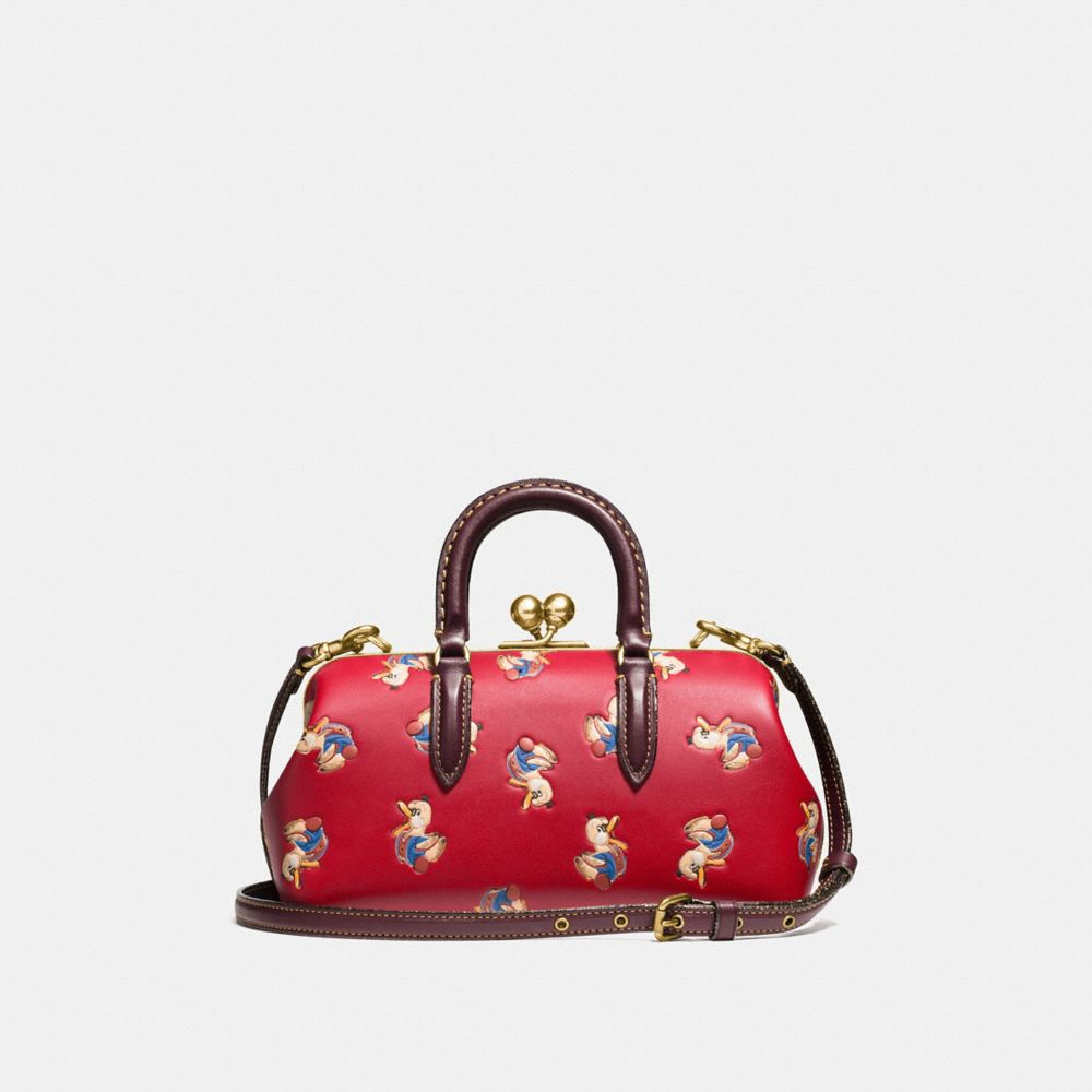 Coach Kisslock Satchel With Colorblock Horse and Duck Print Alternate View 2