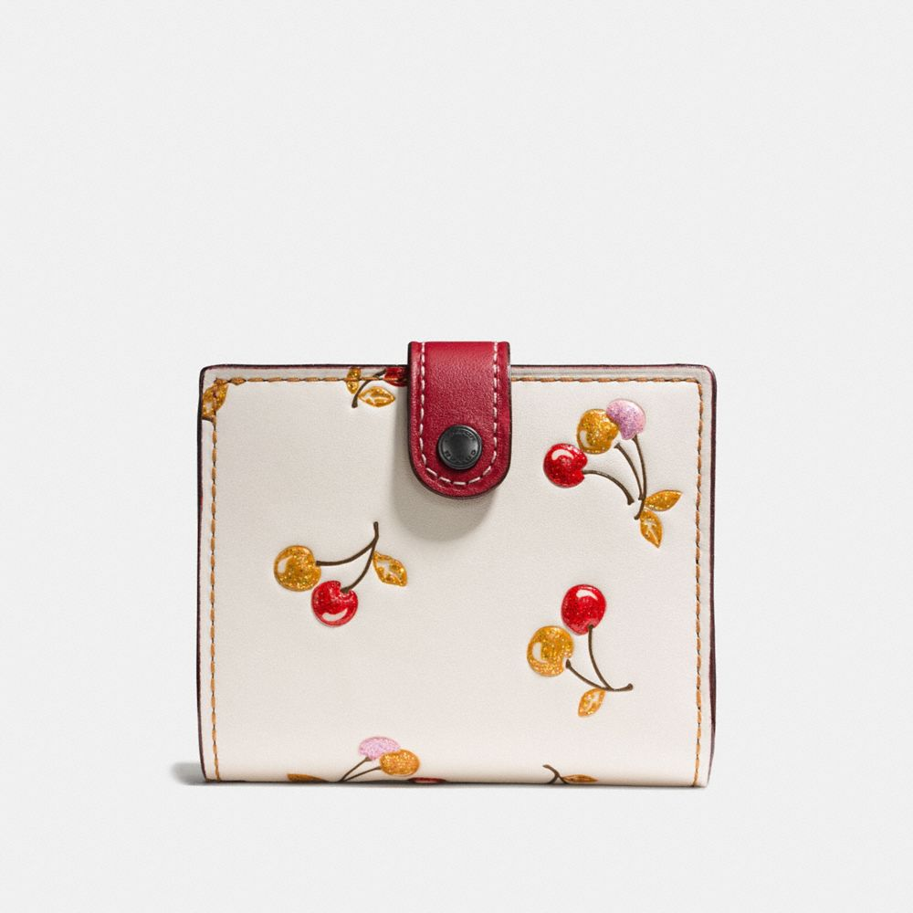 SMALL TRIFOLD WALLET WITH CHERRY PRINT