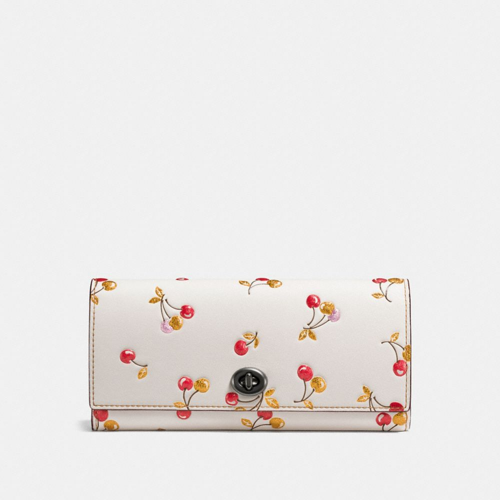 ENVELOPE WALLET WITH CHERRY PRINT