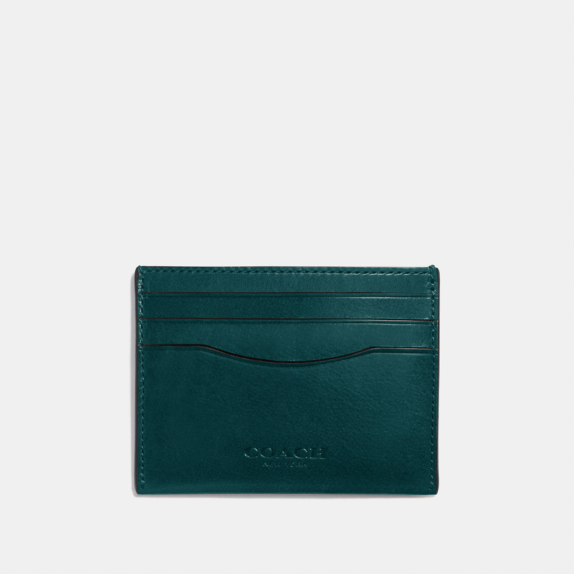 Coach Card Case In Water Buffalo Leather
