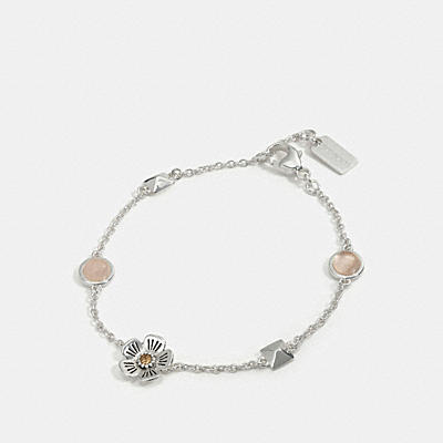 WILLOW FLORAL STUD CHAIN BRACELET