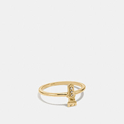 MINI 18K GOLD PLATED ROCKET RING