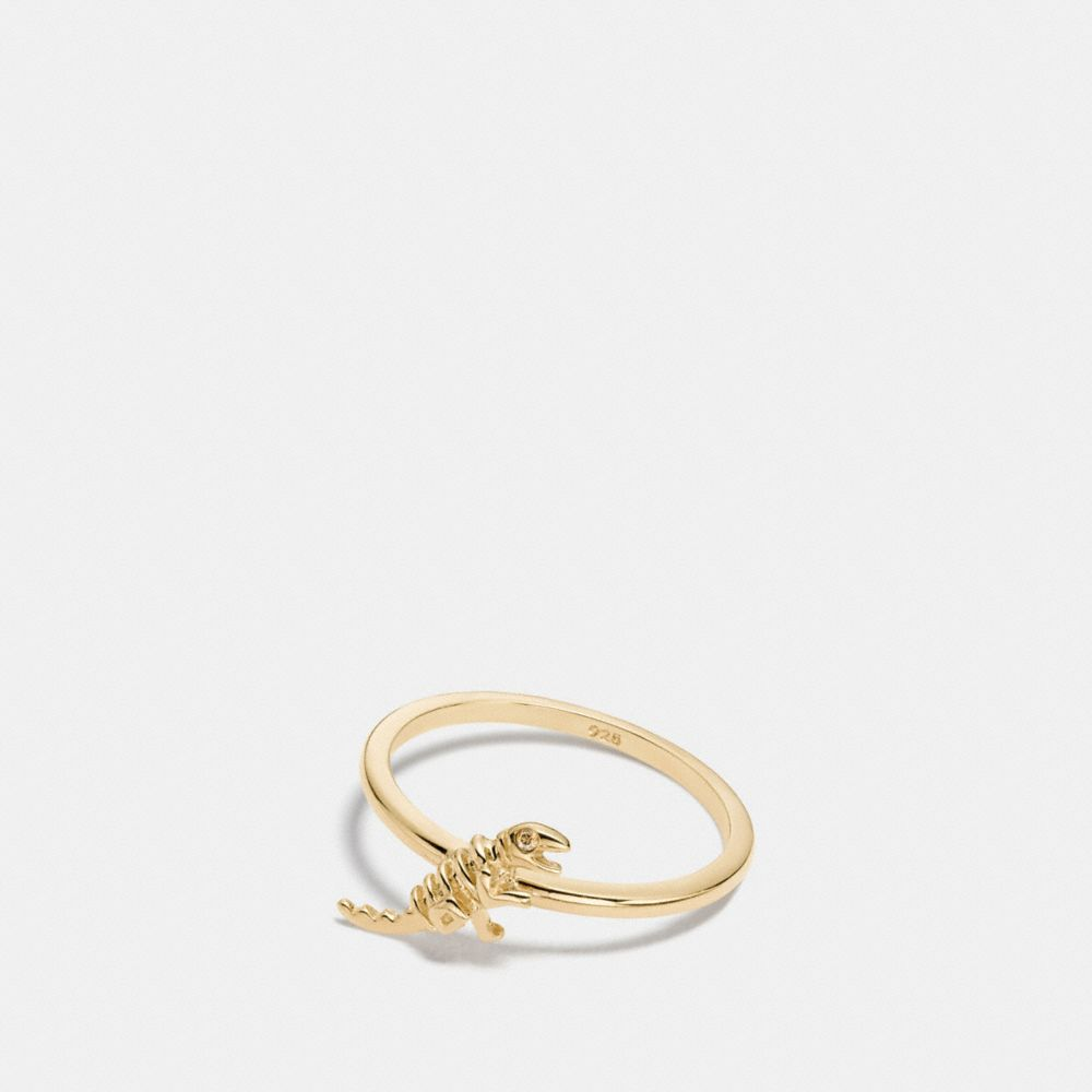 COACH MINI DEMI-FINE REXY RING - WOMEN'S