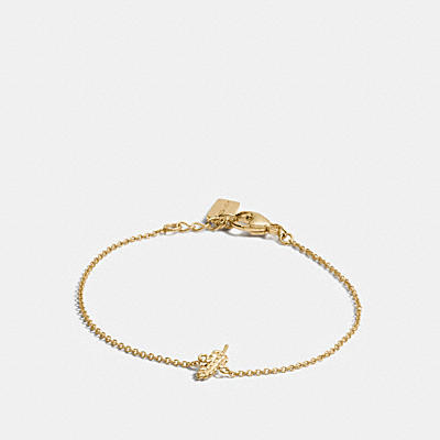 MINI 18K GOLD PLATED FEATHER BRACELET