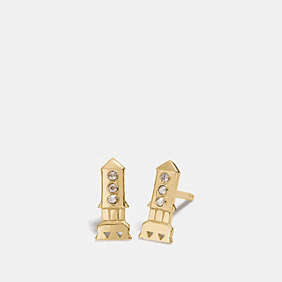 MINI 18K GOLD PLATED ROCKET STUD EARRINGS