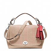 LEGACY PERFORATED LEATHER ROMY TOP HANDLE