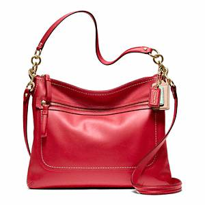 Coach Poppy Leather Perri Hippie brass/cherry