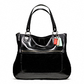 POPPY LEATHER HALLIE TOTE
