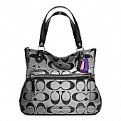 POPPY SIGNATURE METALLIC OUTLINE HALLIE TOTE