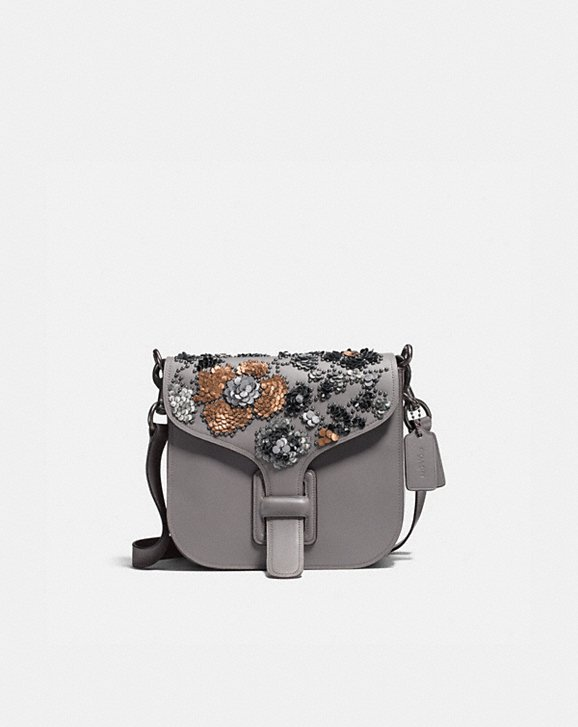 Coach Coach & Rodarte Courier Bag With Leather Sequins