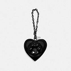 COACH X RICHARD BERNSTEIN JELLO HEART BAG CHARM - V5/BLACK - COACH 227