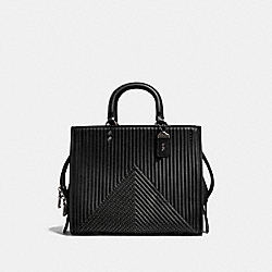 ROGUE WITH QUILTING AND RIVETS - BP/BLACK - COACH 22809