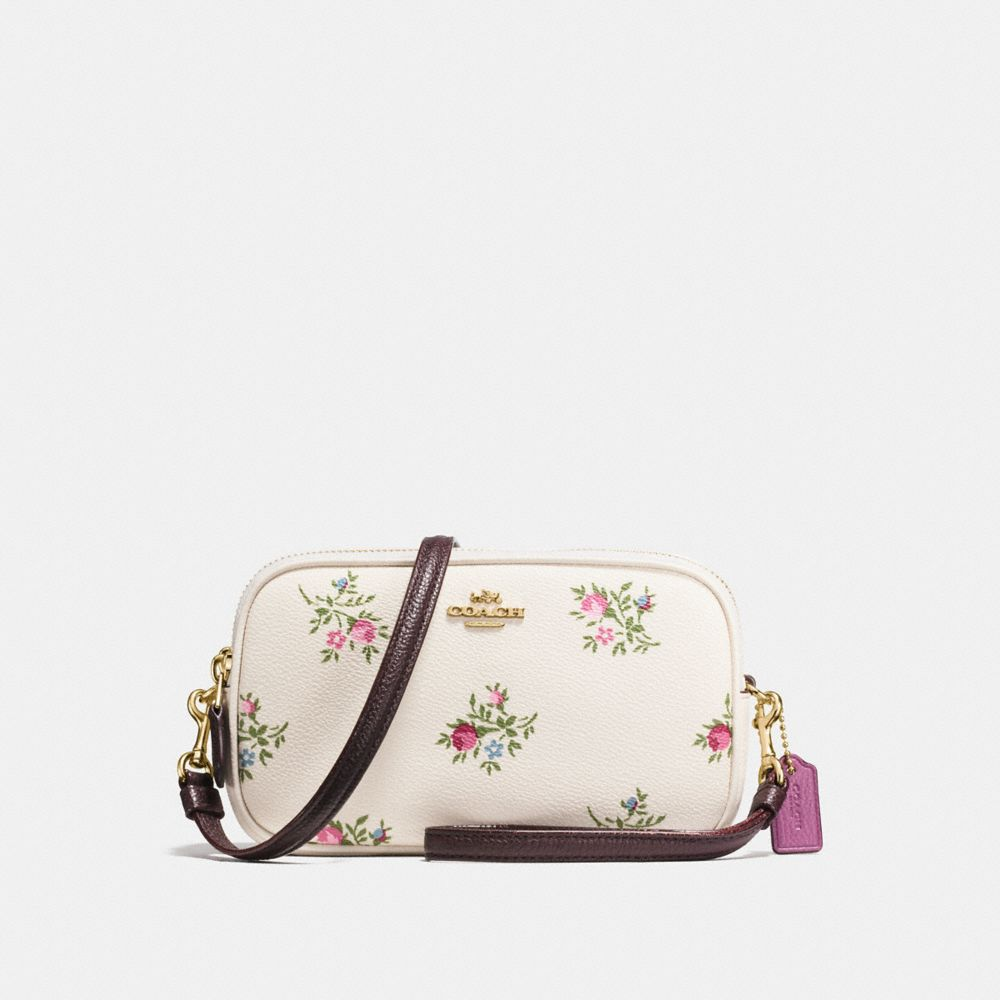 Coach Crossbody Clutch With Cross Stitch Floral Print