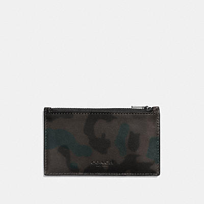 ZIP CARD CASE WITH WILD BEAST PRINT