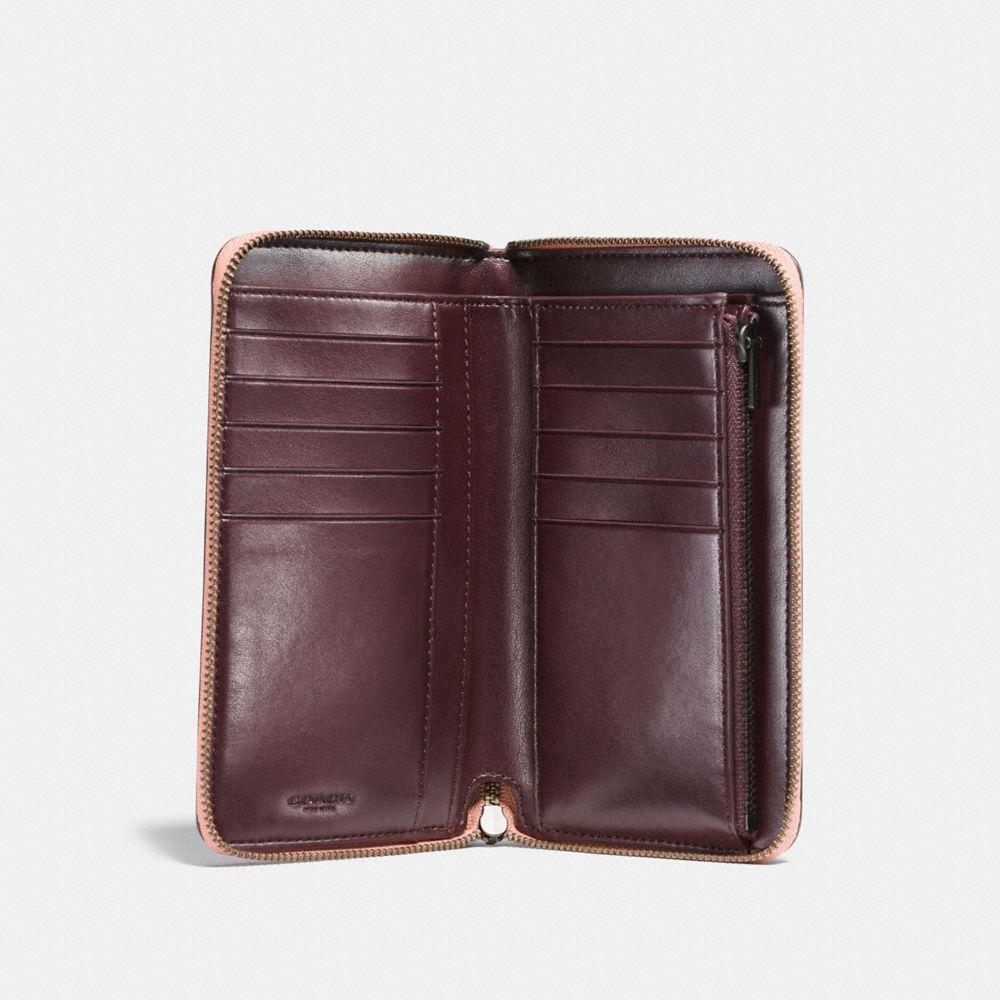 Coach Medium Zip Around Wallet With Prairie Rivets Alternate View 1