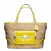 Straw Pocket Large Tote