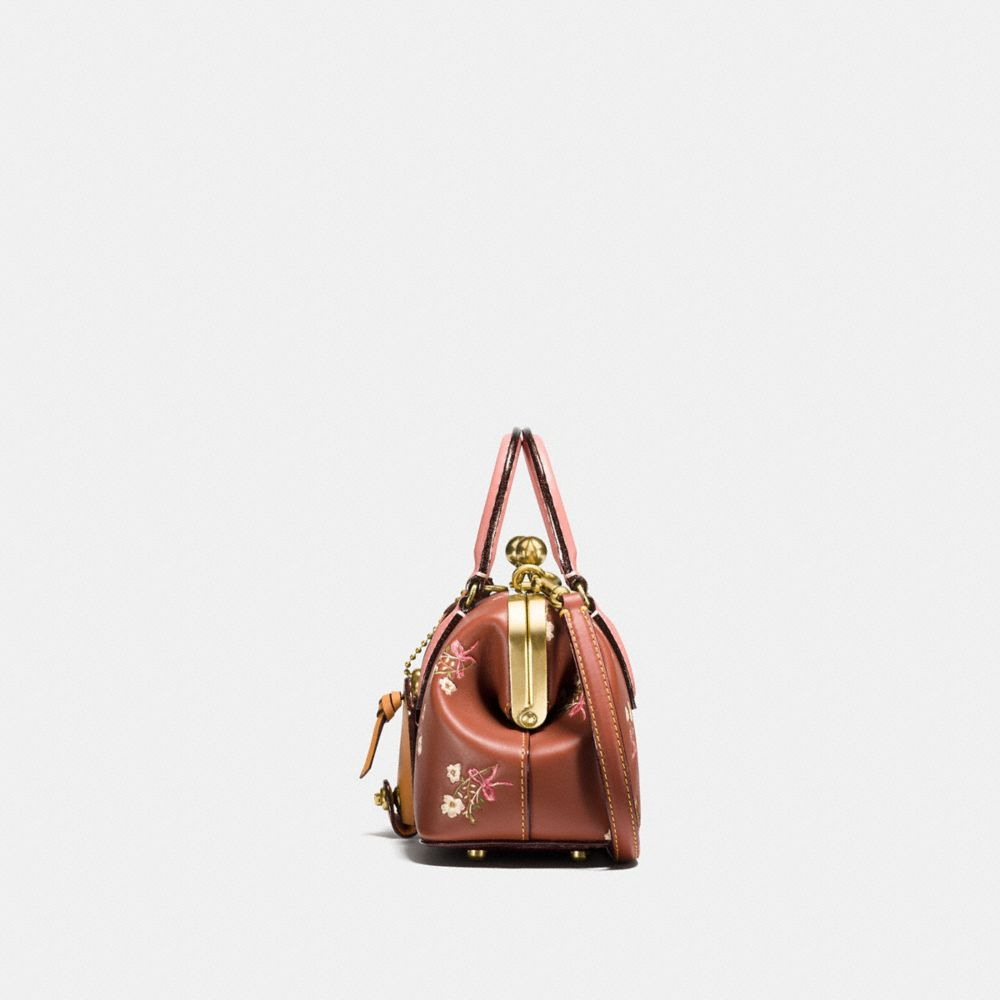 Coach Kisslock Satchel With Floral Bow Print Alternate View 1