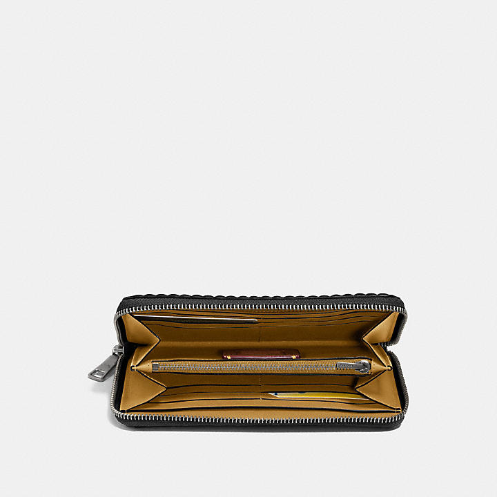 Coach Accordion Zip Wallet With Quilting And Rivets Coach x596S
