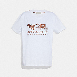 REXY AND CARRIAGE T-SHIRT - WHITE - COACH 23011