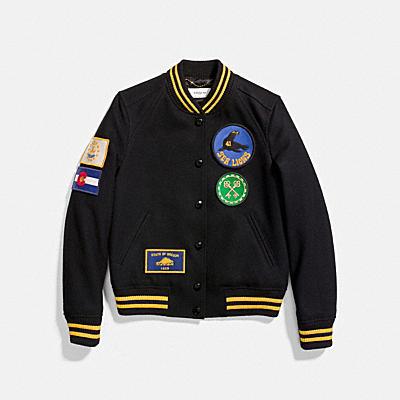 軍裝風補丁VARSITY夾克