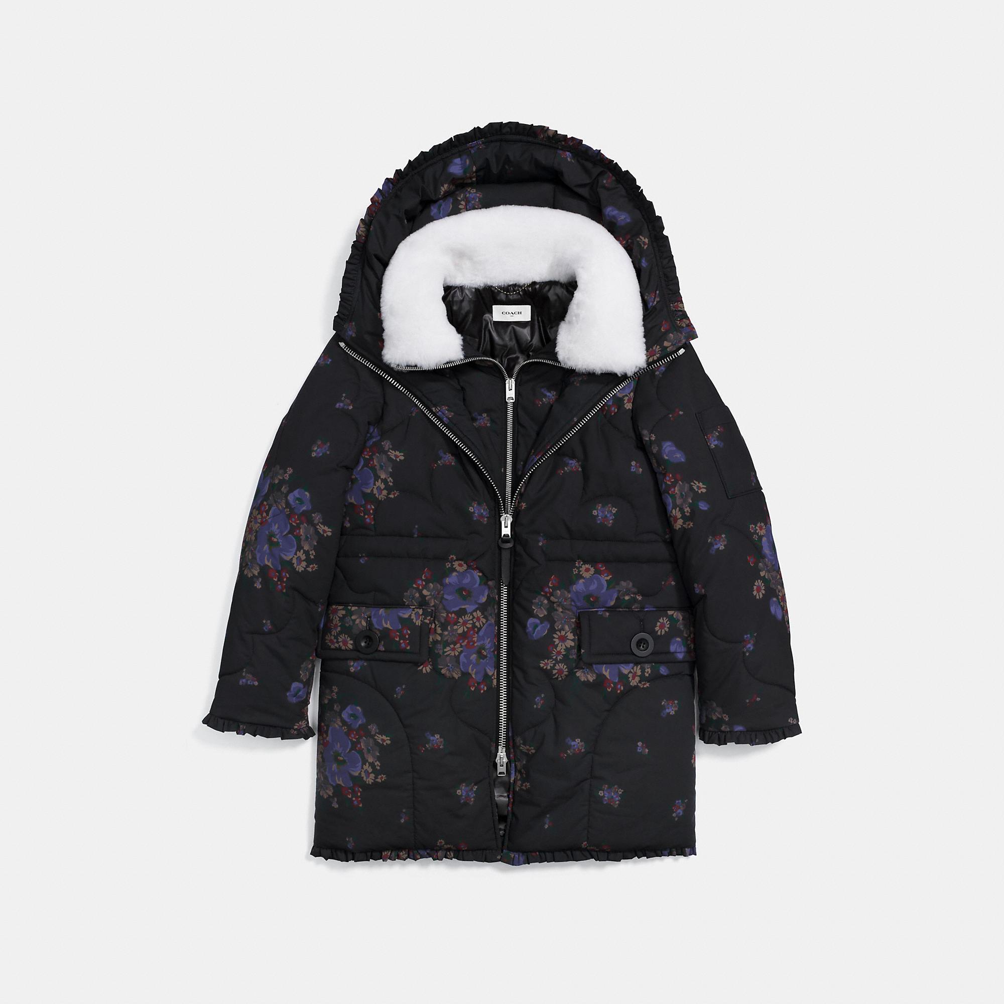 Coach Eiderdown Printed Puffer Jacket