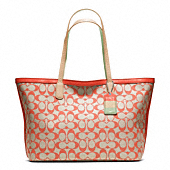 LEGACY WEEKEND PRINTED SIGNATURE ZIP TOP TOTE
