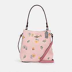 SMALL TOWN BUCKET BAG WITH DANDELION FLORAL PRINT - SV/BLOSSOM GREEN MULTI - COACH 2310