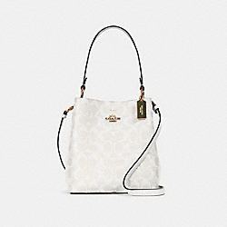 SMALL TOWN BUCKET BAG IN SIGNATURE CANVAS - IM/CHALK/GLACIERWHITE - COACH 2312