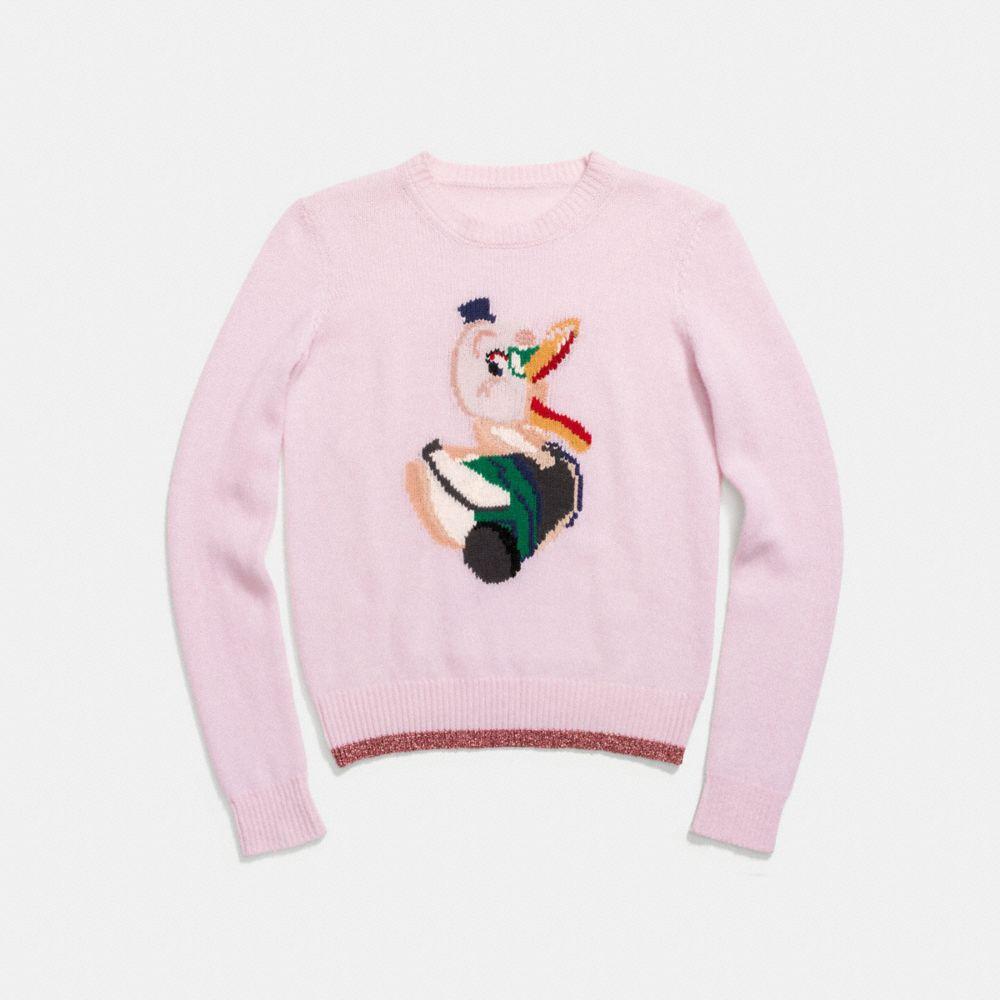 Coach Duck Intarsia Sweater