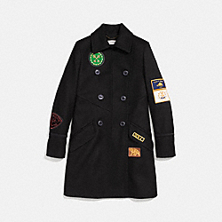 MILITARY PATCH NAVAL COAT - BLACK - COACH 23152